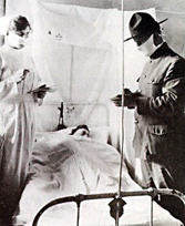 Flu patient with Doctor and Nurse
