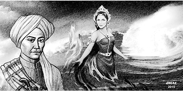 Prince Diponegoro and the Goddess of the Southern Ocean