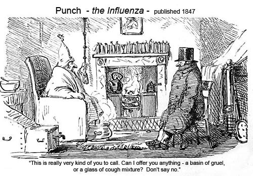 The Influenza - Punch 1847